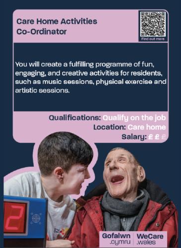 Career Card: Care Home Activities Co-ordinator